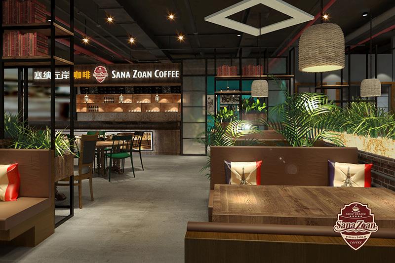 二、大众时尚风格 由于普及性和大众性,这类风格的 咖啡厅在二三线城市有着广阔 的发展空间。与一线城市咖啡厅相比,二三级城市的 咖啡厅定位较为宽广,主要消费群体是大众时尚人群;咖啡厅室内装饰较为随和、亲切,咖啡厅装修风格比较大众化;室内色调或柔和或跳跃,此类咖啡厅适合朋友或者家人之间的聚会,所以消费者不仅可以享受香浓的咖啡,还能品尝到美味的套餐;大众时尚类咖啡厅店内装饰品多为风景画、人物画像、植物盆栽等自然特色。